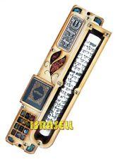 MEZUZAH CASE WITH TEHILLIM BOOK - HOSHEN STONES - Jewish Door Mezzuza - Gift