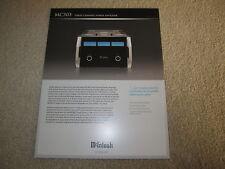 McIntosh MC303 Amplifier Brochure, Specs, Info, 2 pgs
