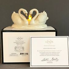 Lenox Porcelain Everlasting Embrace Swan Votive Flameless Candle Holder New