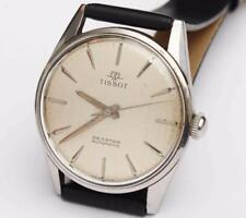 1960s vintage TISSOT SEASTAR MEN'S Stainless Steel LARGE WRISTWATCH - EXCELLENT