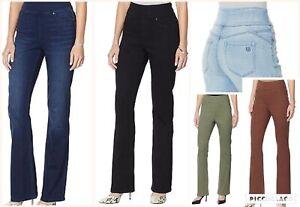 DG2 by Diane Gilman Women's Virtual Stretch Comfort Waist Boot-Cut Jeggings