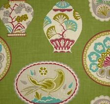Braemore IMPERIAL TREASURE BLOSSOM Chinoiserie Plates Drapery Sewing Fabric