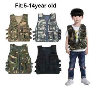 Children Tactical Military Jacket Kid Breathable Outdoot Hunting Camouflage Vest