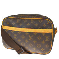 Authentic LOUIS VUITTON Reporter PM Shoulder Bag Monogram Leather M45254 82MF159