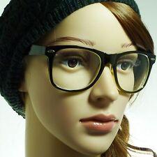 NERD Retro Vintage Oversized Frame Unisex Trendy Clear Lens Eye Glasses GREEN