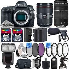 Canon 5D Mark IV DSLR Full Frame Camera + 24-105mm f/4L IS II + 75-300 III +64GB