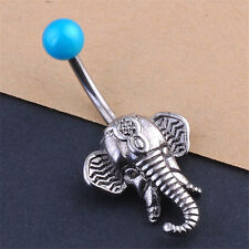 New Elephant Navel Belly Button Rings Steel Belly Bars Piercing Body Jewelry SK