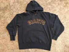 Vintage Nike Pullover Orange Swoosh San Francisco Giants Black Hoodie Size Large