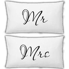Taie d'oreiller d'oreilles Mr et Mme CADEAU MARIAGE imprimé chambre literie