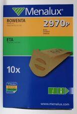 MENALUX 2970P 10 SACCHETTI SINGER AP129 JOHNSON CLIO ROWENTA RH500 RH600 GISOWAT