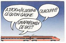 CARTE POSTALE FANTAISIE SNCF 1984 N° 26 TGV