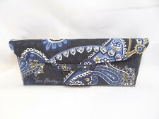 VERA BRADLEY Flip Top Cloth Case in Blue Paisley For Glasses 36mm Authentic A