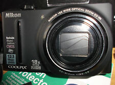 Nikon COOLPIX S9100 12.1MP Digital Camera - Black V.G.C.