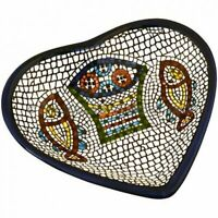 Heart shaped Ceramic Serving Snack Dish (5 Inches) - Asfour Outlet Trademark