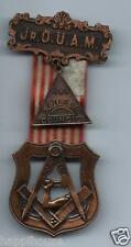 1930s Junior Order of United American Mechanics Medal & Ribbon / Genesee Council