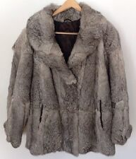 Authentic Germany ECHT KANINPELZ Gray Rabbit Fur Coat Women's 12/14 Jacket L