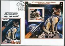 MALDIVES  2017  60th ANNIVERSARY THE 1st ANIMAL,DOG LAIKA, IN SPACE S/S MINT FDC