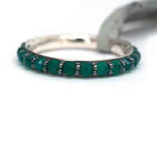 NWT DAVID YURMAN 3mm Osetra Cable Berries Band Ring in Green Onyx & Silver Sz 6