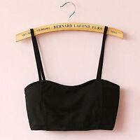 Girl Unique Bralette Caged Back Cut Out Strappy Padded Bra Bralet Vest Crop Top