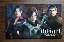 Resident Evil Damnation Japanese Anime Film Movie Program Pamphlet 2012