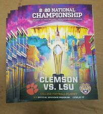 LSU, 2020 NATIONAL CHAMPIONSHIP GAME DAY PROGRAM
