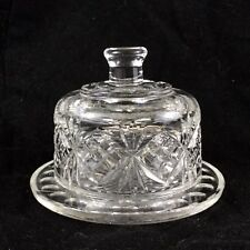 Glass Butter Dish Vintage Dome Cloche Cover Preserve Jam Glassware