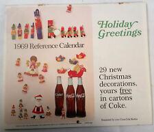 Vintage 1969 Coke Coca-Cola Holiday Greetings Reference Calendar 1960's Mod Art