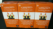 3 Boxes of NEW HOLIDAY HOME HALLOWEEN ORANGE MINI LIGHTS Decoration House