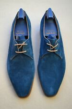 "John Lobb Paul Smith ""Willoughby"" Ocean Blue Suede Shoes UK 8 US 9 New"