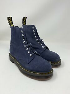 Dr. Martens 1460 Pascal Suede Ombre Blue Leather Boots Mens Size 7 Womens Size 8