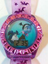 Vampirina Flashing Icon Dial Kids Watch- Blue and Purple Wristwatch
