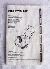 Craftsman 536.884681 Snow Thrower OEM Owner's Manual Includes Parts List