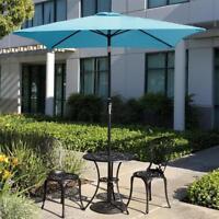 Outdoor 6.5FT Patio Umbrella Crank Tilt Market Waterproof Beach Yard Sunshade