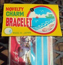 VINTAGE DIME STORE NOVELTY CHARM BRACELET JAPAN 1960s New Old Stock NOS