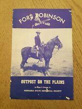 VTG 1954 OFFICIAL Fort Robinson Museum Dawes Nebraska Tourist Brochure Site Map
