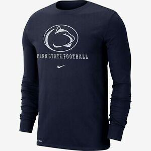 Penn St. Nittany Lions Mens Nike Football Icon Wordmark L/S T-Shirt - XXL - NWT