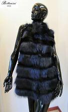 Gilet in PELLICCIA di MARMOTTA e castoro nero fur vest fourrure pelz smanicato