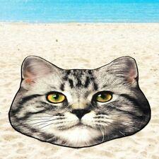 "Mainstays Cat Shaped Beach Towel 58.5 x 58.5"" Soft Swimming Pool Bath Gift Picni"