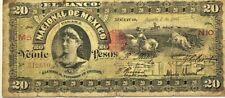 New Listing20 Pesos Banco Nacional De Mexico1905 Cowboy cattle red seal!