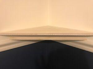 Floating Corner Shelf / wall shelf / wood shelf 16x16x23.5