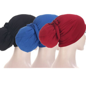 3pcs Underscarf Turban Muslim Women Hijab Head Scarf Wrap Bonnet Chemo Cap Hat