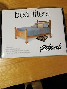 Richards Stackable Bed Lifters Risers Set of 4 - Solid Wood Natural NIB