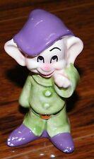 """Walt Disney Snow White The 7 Dwarfs Dopey 2 1/2"""" Inch Tall Ceramic Figurine!"""