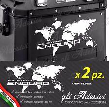 2 Adesivi per valigie GIVI Trekker Ducati Multistrada ENDURO nere planisfero
