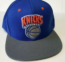 New York Knicks Mitchell & Ness NBA Adjustable Hat Blue Gray