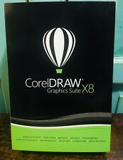 New CorelDRAW Corel DRAW Graphics Suite X8 SEALED GENUINE Windows Full Version