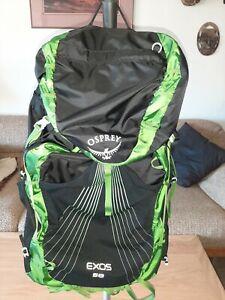 Osprey Exos 58 Liter green/black size Large Backpack