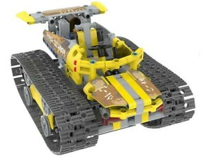 STEM Educational Building Blocks Remote Controlled Technic Tank 411 pieces