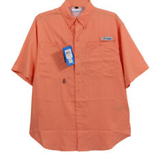Men's Columbia Formal Sports Wear Polo Orange   Select Your Size   NWT