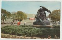 Unused Postcard Statue and Fountain Texas State Fair Grounds Dallas TX